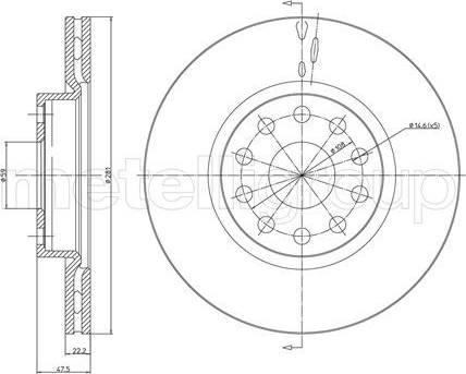 Cifam 800-408 - Bremžu diski interparts.lv