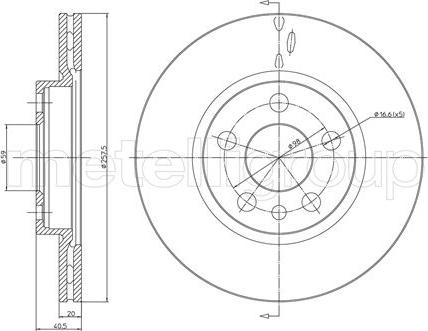 Cifam 800-402 - Bremžu diski interparts.lv