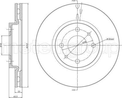 Cifam 800-407C - Bremžu diski interparts.lv