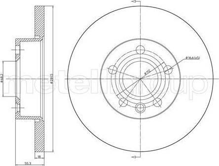Cifam 800-484 - Bremžu diski interparts.lv