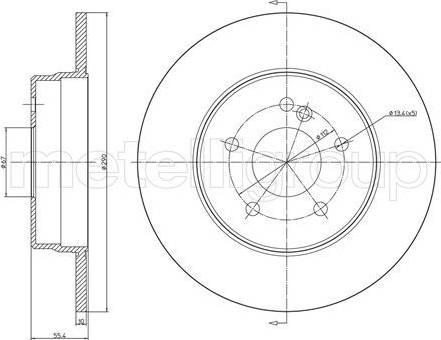 Cifam 800-485C - Bremžu diski interparts.lv
