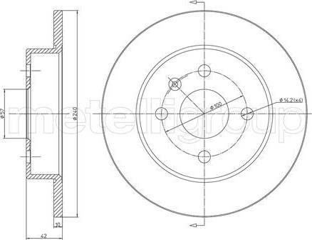Cifam 800-488C - Bremžu diski interparts.lv
