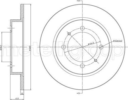 Cifam 800-434C - Bremžu diski interparts.lv