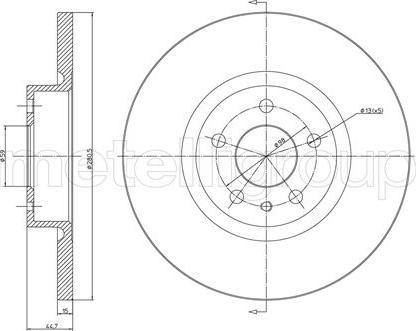 Cifam 800-472C - Bremžu diski interparts.lv