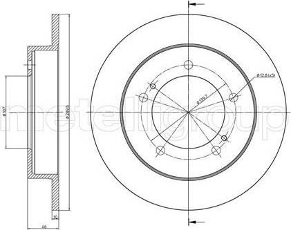 Cifam 800-590 - Bremžu diski interparts.lv