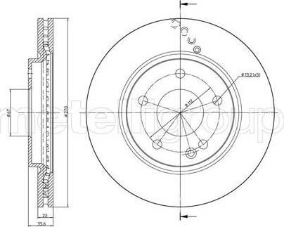 Cifam 800-598C - Bremžu diski interparts.lv