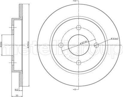 Cifam 800-542C - Bremžu diski interparts.lv