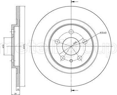 Cifam 800-554C - Bremžu diski interparts.lv