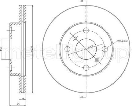 Cifam 800-552C - Bremžu diski interparts.lv