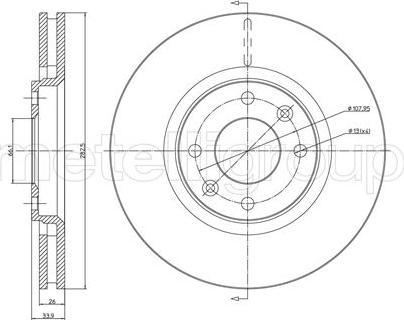 Cifam 800-566C - Bremžu diski interparts.lv