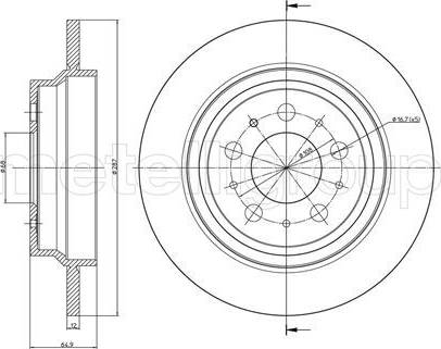 Cifam 800-562C - Bremžu diski interparts.lv