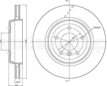 Cifam 800-519C - Bremžu diski interparts.lv