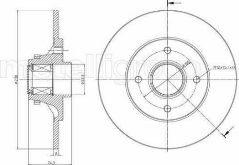 Cifam 800-516 - Bremžu diski interparts.lv