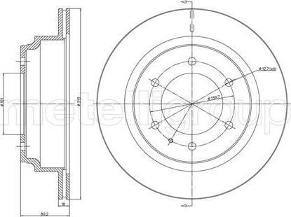 Cifam 800-511 - Bremžu diski interparts.lv