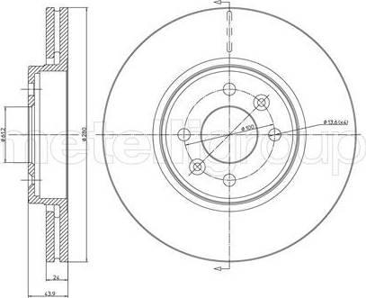 Cifam 800-517C - Bremžu diski interparts.lv