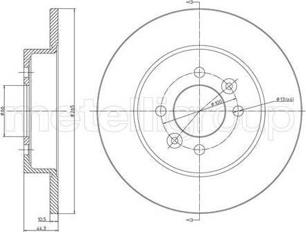Cifam 800-534 - Bremžu diski interparts.lv
