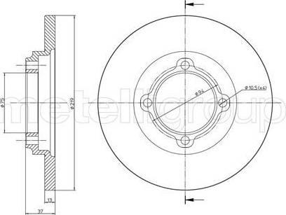 Cifam 800-536 - Bremžu diski interparts.lv