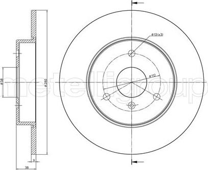 Cifam 800-538C - Bremžu diski interparts.lv