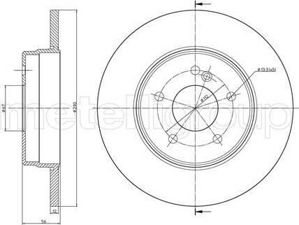 Cifam 800-522C - Bremžu diski interparts.lv