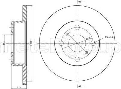 Cifam 800-662 - Bremžu diski interparts.lv