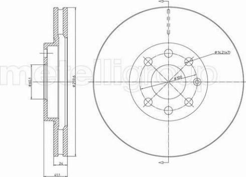 Cifam 800-604C - Bremžu diski interparts.lv