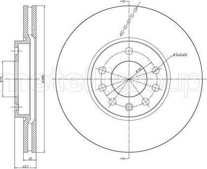 Cifam 800-605C - Bremžu diski interparts.lv