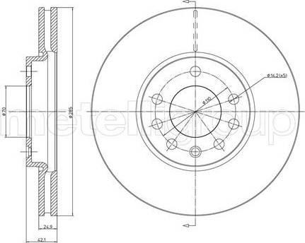 Cifam 800-608C - Bremžu diski interparts.lv