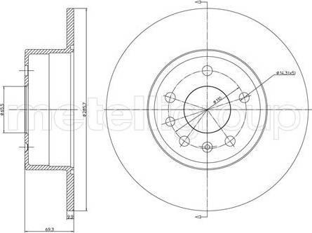 Cifam 800-607C - Bremžu diski interparts.lv