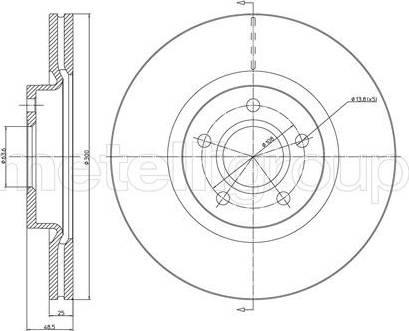 Cifam 800-687C - Bremžu diski interparts.lv