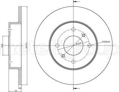 Cifam 800-672 - Bremžu diski interparts.lv