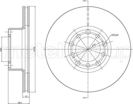 Cifam 800-086 - Bremžu diski interparts.lv
