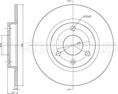 Cifam 800-153 - Bremžu diski interparts.lv