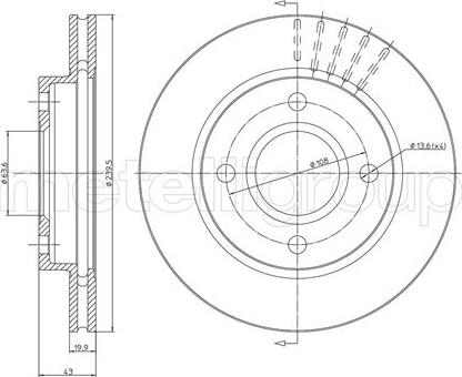 Cifam 800-169 - Bremžu diski interparts.lv