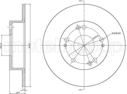 Cifam 800-1648C - Bremžu diski interparts.lv