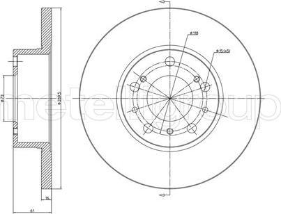 Cifam 800-161 - Bremžu diski interparts.lv