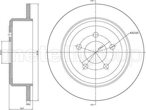 Cifam 800-1684C - Bremžu diski interparts.lv