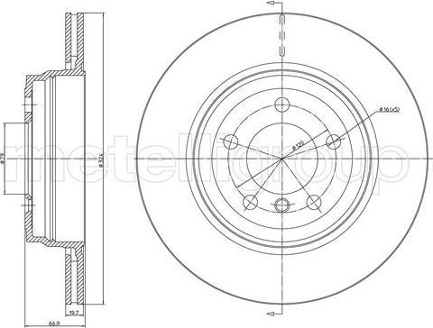 Cifam 800-1683C - Bremžu diski interparts.lv