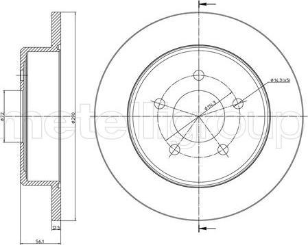 Cifam 800-1092C - Bremžu diski interparts.lv