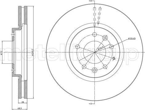 Cifam 800-1060C - Bremžu diski interparts.lv