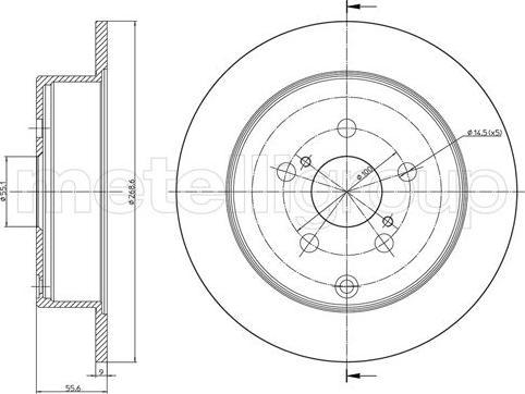 Cifam 800-1063C - Bremžu diski interparts.lv