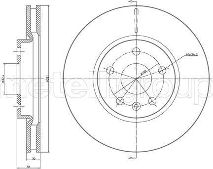 Cifam 800-1005C - Bremžu diski interparts.lv