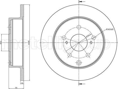 Cifam 800-1012C - Bremžu diski interparts.lv