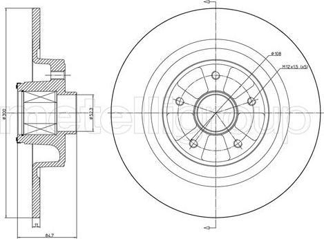Cifam 800-1089 - Bremžu diski interparts.lv