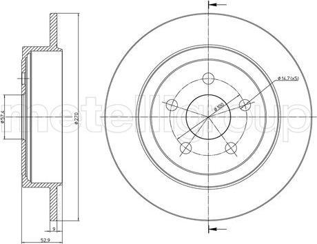 Cifam 800-1107C - Bremžu diski interparts.lv