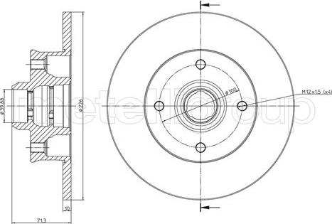 Cifam 800-117 - Bremžu diski interparts.lv