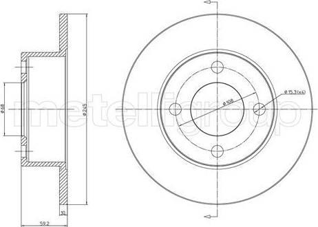 Cifam 800-185 - Bremžu diski interparts.lv