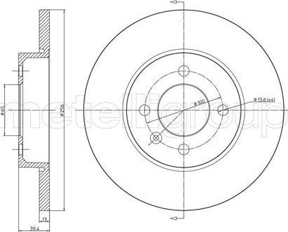 Cifam 800-186C - Bremžu diski interparts.lv