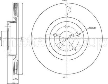 Cifam 800-183C - Bremžu diski interparts.lv