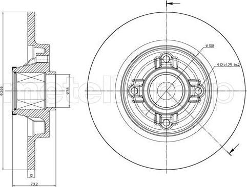 Cifam 800-1395 - Bremžu diski interparts.lv