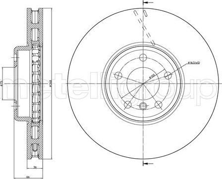 Cifam 800-1328C - Bremžu diski interparts.lv